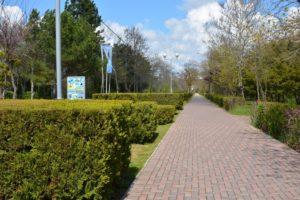Парк рядом с хостелом Малибу в Евпатории