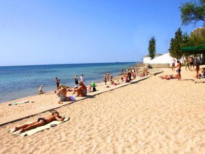 Пляж санаторий Орленок